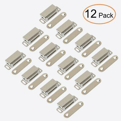 12Pack Heavy Duty Stainless Steel Magnetic Door Catch Cupboard Cabinet Latch 7kg