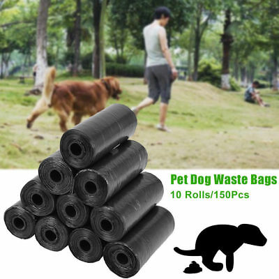 150Pcs Pet Waste Bags Dog Cat Poo Poop Pooper Scooper Toilet On a Roll Refill