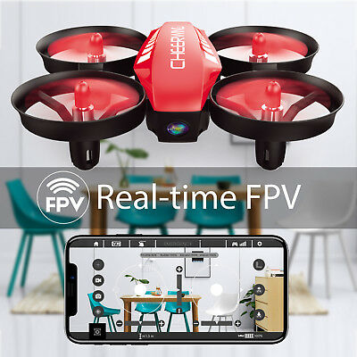 Cheerwing CW10 Mini RC Drone Wifi FPV Drone with 0.3MP Camera RC Quadcopter Red
