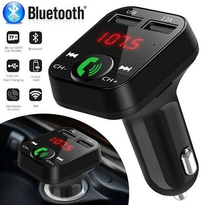 2.1A Wireless Bluetooth Car MP3 Player FM Transmitter USB Charger Adapter Kit AU