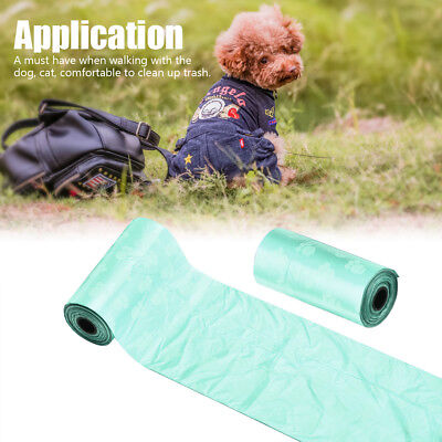 150pcs 10Roll Pet Degradable Waste Poop Bags Dog Cat Clean Up Refill Garbage Bag