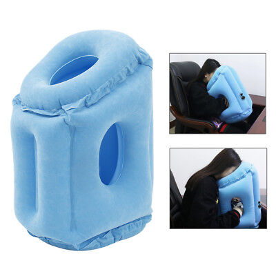 Inflatable Travel Pillow Cushion Neck flight Comfortable Support Soft camping AU
