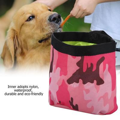 Camouflage Green/Red Pet Dog Walking Food Treat Snack Bag Outdoor Agility Bait