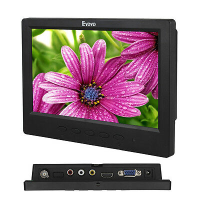 "HD Display 7"" TFT LCD Monitor 1024*600 BNC VGA Video HDMI per PC, sicurezza F1"
