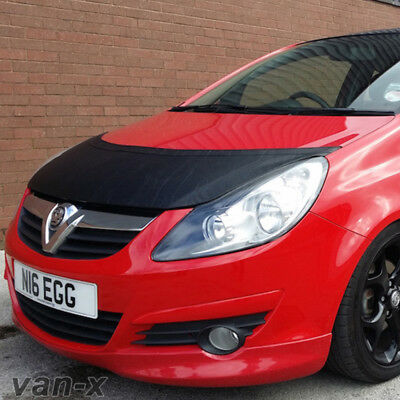 Half Bonnet Bra / Cover Black For Vauxhall Corsa D