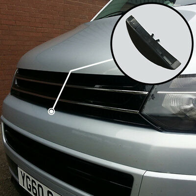 Piano Black Front Badgeless Grille For VW Volkswagen T5.1 *Clearance* [B Grade]
