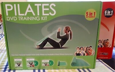 PILATES DVD TRAINING KIT WITH: MAT, 144 pg INSTRUCT BOOK, DVD, CD, STRETCH BAND