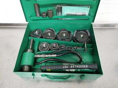 "Greenlee 7310Sb Hydraulic Knockout Punch Set 1/2"" To 4"" 7310 Slug Buster #5 👍"