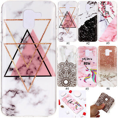 UK Soft Silicone Case Skin Phone Cover For Samsung Galaxy J6 A6 A8 S9 Note 9 S8