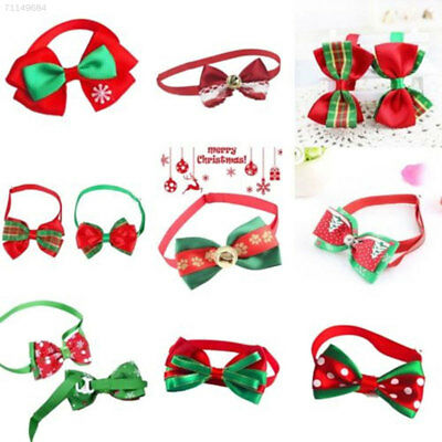 145A Gift Prop Christmas XM Bow Knot Tie Puppy Necklace Pet Collar Novelty