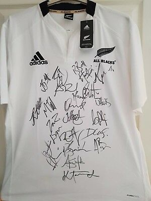 All Blacks Signed Rugby Shirt, New Zealand *photo Proof*