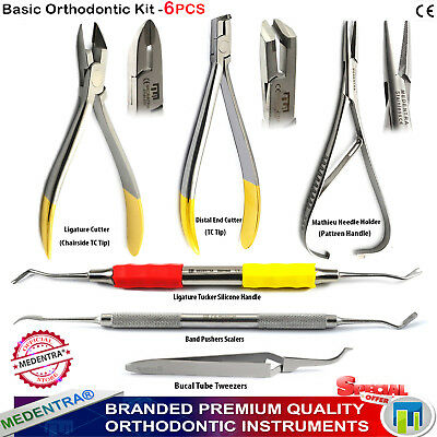 Ortho Instruments Procedure Kit for Orthodontics Dentistry Wire Cutters X6 Items