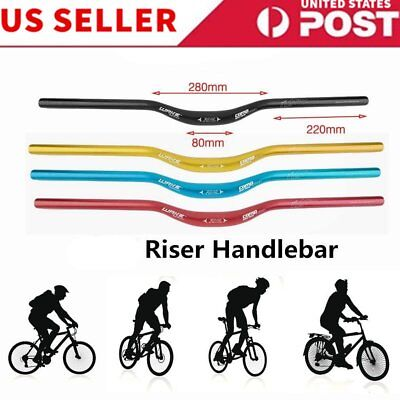 MTB Mountain Bike Bicycle Aluminum Alloy Riser Handlebar 720 * 31.8mm New D221