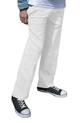 Kids White Jog Pants Boys Girls Plain Jogging Bottoms Trousers Ages 2 - 15