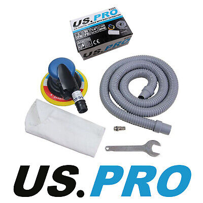 "US PRO 6"" 150mm AIR DUST-FREE DA ORBITAL PALM SANDER with Dust Extractor 8323"