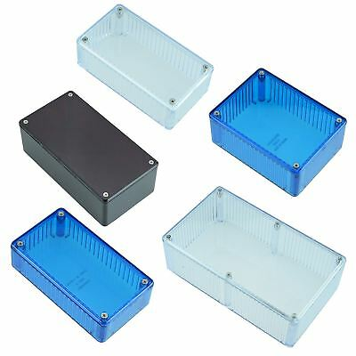Red Blue Clear Polycarbonate 1591 Series Hammond Electronics Enclosure Box