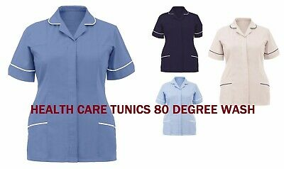 Womens Nurse Healthcare Uniform Tunics Tonia/Bold Trim Beauty Salon Spa Nurse