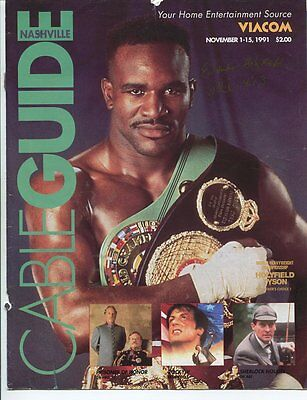 BOXING legend EVANDER HOLYFIELD  hand signed AUTOGRAPH with COA SB2543