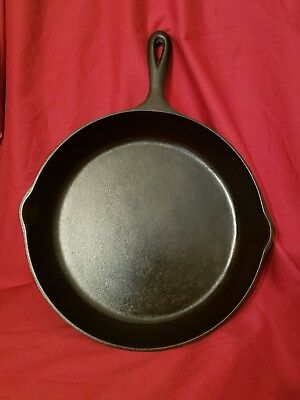 "Cast Iron Lodge #10 3 Notch Skillet Pre 1960""s"