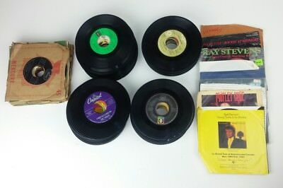Vinyl Record Lot of 142 Pieces 45 RPM Country Pop Rock Honky Tonk 1970s 1980s