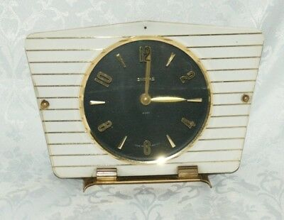 Vintage SMITHS Plastic & Brass  Cased 8 Day (Floating Balance) Mantel Clock