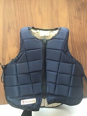 Racesafe Body Protector, Child's medium, Blue, Excellent Condition,