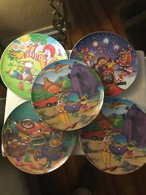 2001 -2002 McDonalds Plates - Set of 5 Featuring Ronald and Friends