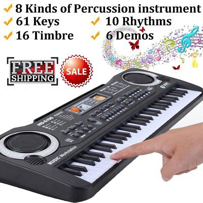 Hot 61 Keys Children Musical Instrument Electronic Piano Keyboard 16 Timbre C2