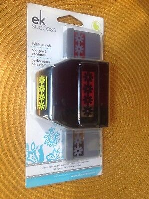EK SUCCESS craft punch *LE GARDEN FLOWER CHAIN* large edger NEW sun flower daisy