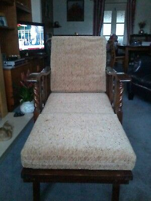 Edwardian Antique Wooden Chair/daybed