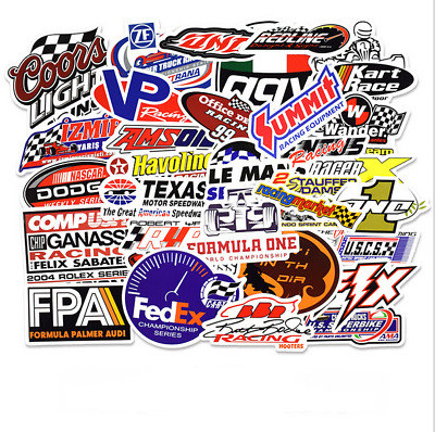Hot Sale 50 Pcs Vintage Stickers Biker Car Racing Motorcycle Decals Logo Sticker
