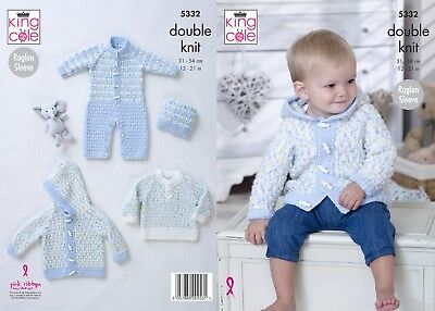 dcc9811d43ddc KNITTING PATTERN BABY All-in-one Suit Hat   Hooded Jacket Aran King ...