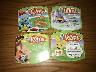 Leap Frog Baby Little Leaps Interactive DVDs Lot Of 4 with disc's & instruction