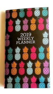 2019 Weekly Multi Colored PLANNER Calendar Mini Pocket Purse Organizer pineapple