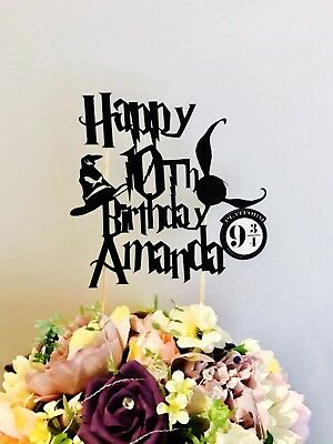 Personalised Harry Potter Happy Birthday Cake Topper