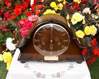 Smiths Antique Art Deco Westminster Whittington Double Chiming Mantel Clock.