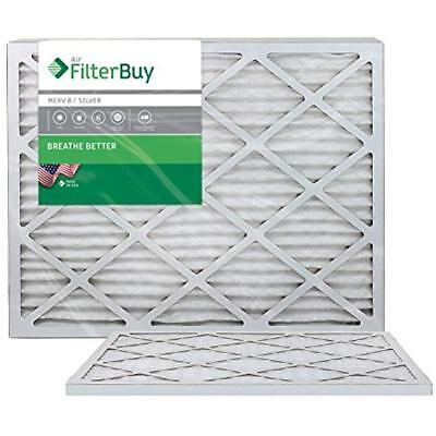 20x25x1 MERV Furnace Filters 8 Pleated AC Air Filter, (Pack Of Filters), Silver