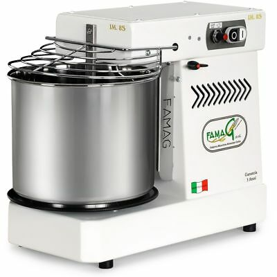Italian Famag IM-8S Spiral Dough Mixer for Home or Commercial, 12 Quart, Arctic