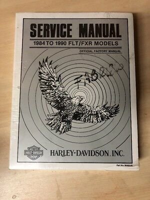 1984-1990 Harley FLT/FXR Service Repair Shop Workshop Manual Book Guide 99483-90