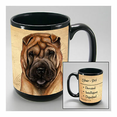 Shar Pei Tan Faithful Friends Dog Breed 15oz Coffee Mug Cup