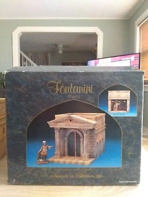 Fontanini By Roman  The Temple Heirloom Nativity Building #50219 Exc