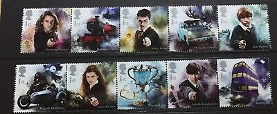 GB 2018 Harry Potter Hermione Granger Hogwarts Express Set Movies Stamps