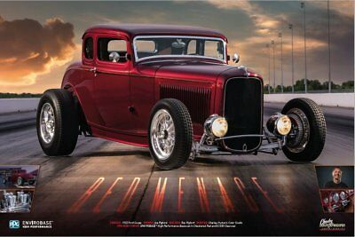 PPG Refinish EHPPOSCH8 Charley Hutton '32 FordRed Menace Full Color Wall Poster
