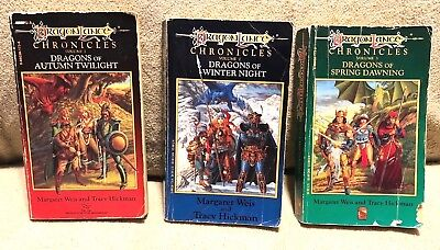 DragonLance Chronicles Trilogy (1-3) by Weis and Hickman [PB]