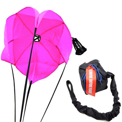 Racerdirect Drag Parachute Spring Loaded Florescent Pink Drag Racing Chute