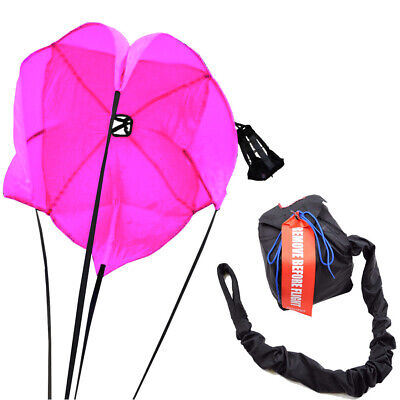 Ladies Drag Parachute Spring Loaded Florescent Pink Drag Racing Chute