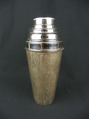Vintage German US Zone Martini Cocktail Shaker Art Deco Chrome