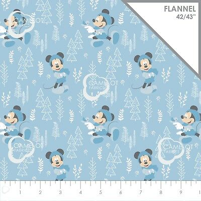 100/% Cotton Winceyette Flannel Fabric Disney Mickey Mouse Oh Boy!
