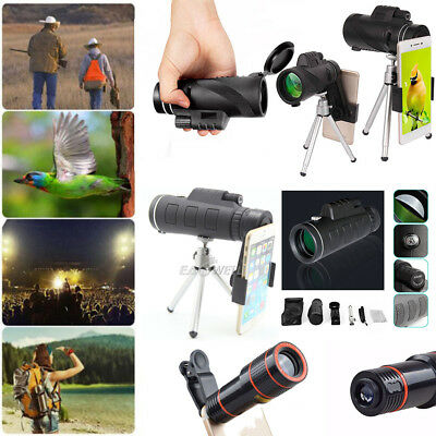 40x60/12x/8x Optical Zoom Clip-on Camera Lens Telescope For Universal Cell Phone
