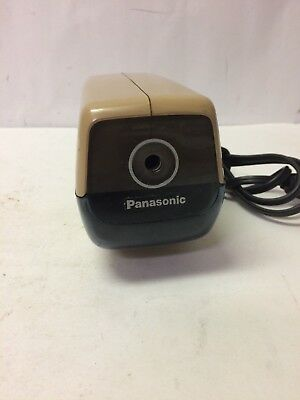 Vintage Panasonic Electric Pencil Sharpener Tan KP-88A Made In Japan Auto Stop